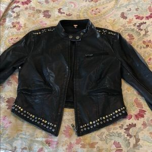 Free people distressed leather jacket